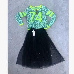 Dresses & Skirts - Sheer midi skirt with appliqué